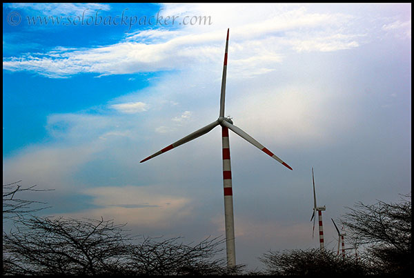 A Windwill near Jaisalmer