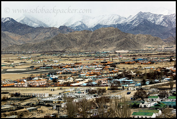 View of Leh City from Spituk Gompa
