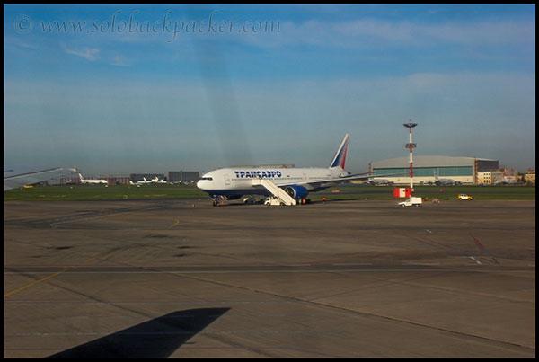 A Transaero Flight at Vnukovo Airport, Moscow