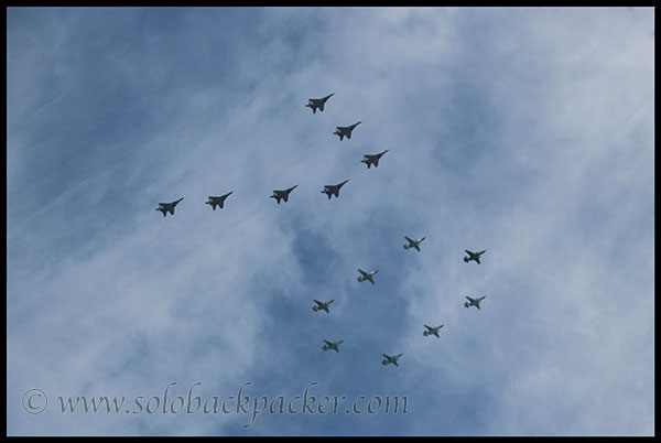 Flypast During The Parade
