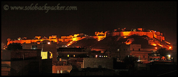 The Golden Fort in The Night