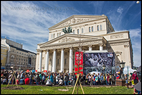 Crowd at Bolshoi Theater