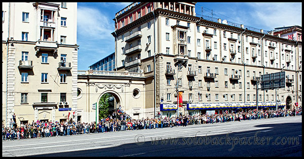 Gathering For Victory Day Parade