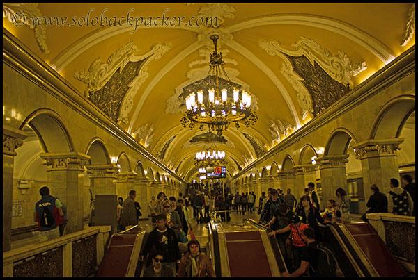 Inside Komsomolaskaya Metro Station