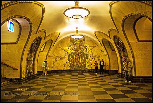 Corridor of Novoslobodskaya Metro Staion