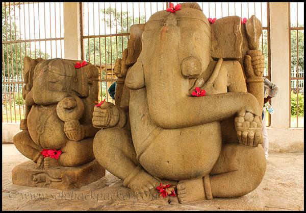 Twin Ganesha Statue in Barsur