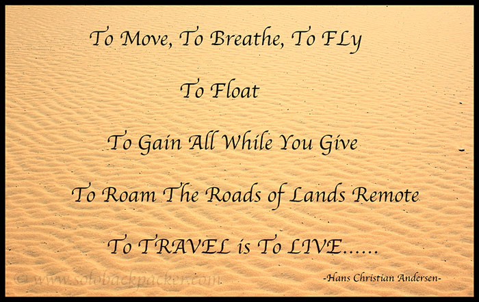 Inspirational Travel Quotes As Complied | Solo Backpacker