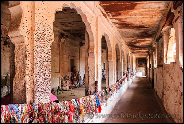 A Corridor of Idols  at Pokharan Fort