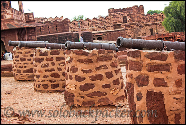 Cannons Mounted on Pokharan Fort Wall