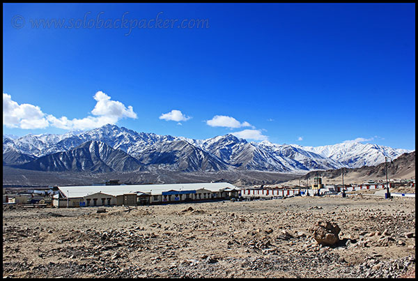 Leh Airport And The Surrounding Mountains