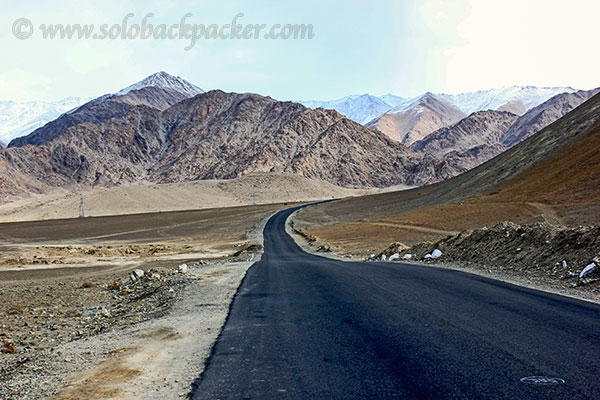 National Highway Through The Cold Desert of Leh
