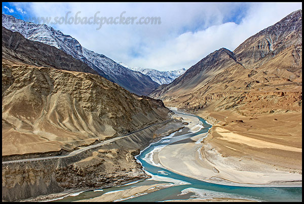 Sangam of Zanskar and Indus Rivers