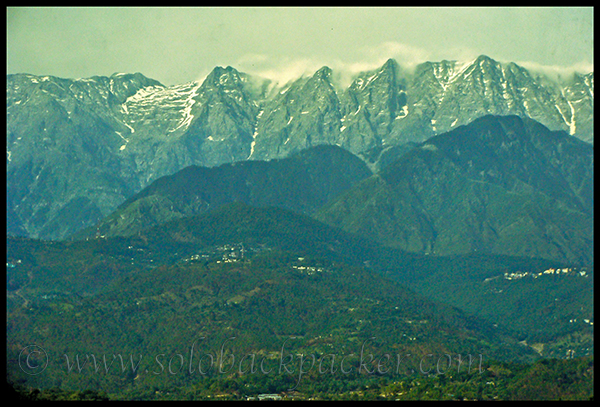 Dharamshala in the lap of Dhauladhar Mountains