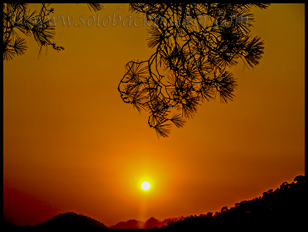 Sunset From Gandhi Park