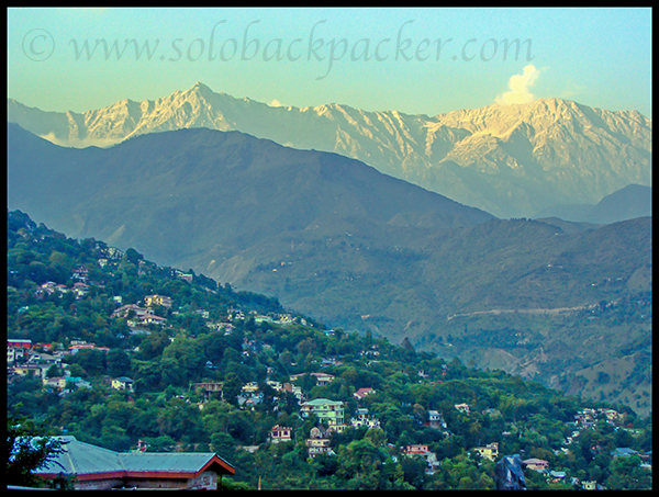 View of Dhauladhar Ranges from Dharamshala