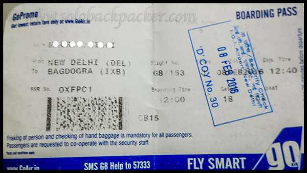 Boarding Pass for Go Air Flight