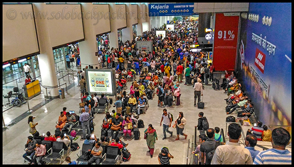 Crowd in The Morning Hours at Delhi Airport T1D