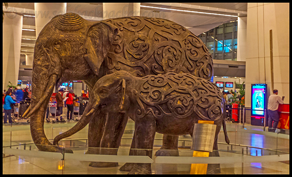 Inside Terminal 3 of Delhi Airport