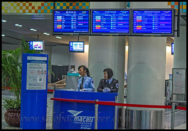 Flight Display and Customer Care at Macau Airport