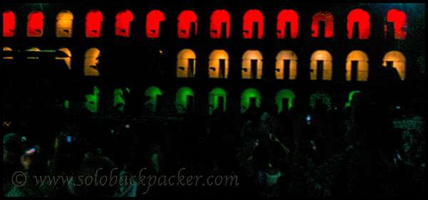 Tricolour During Light and Sound Show