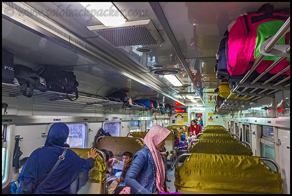 Coach Interior of Gajahwong Train