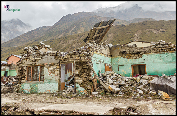 Broken Houses Near Kedarnath Temple