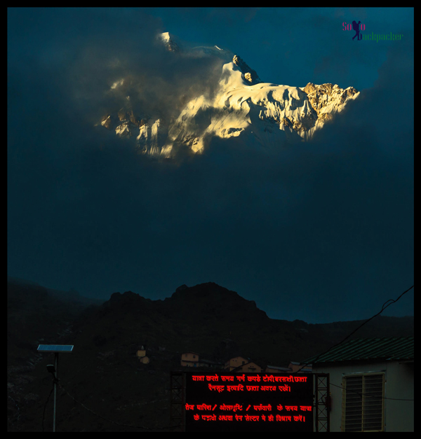 View of The Himalayas in The Evening