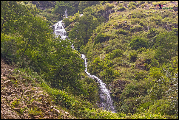 Waterfall Along The Trekking Route