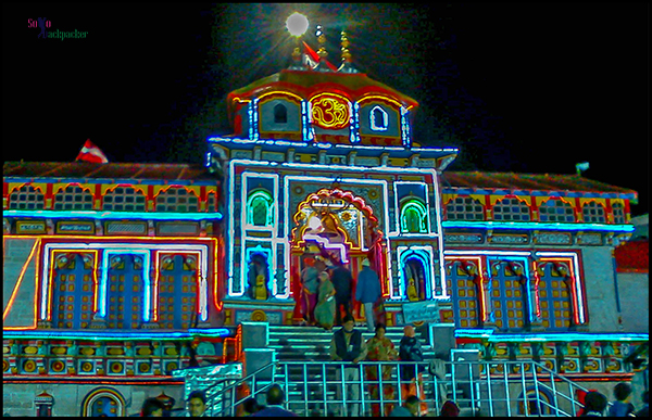 Night View of Badrinath Temple