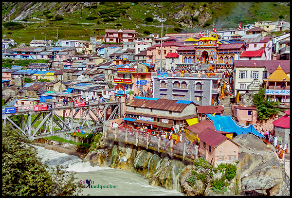 Badrinath Town And Alaknanda River
